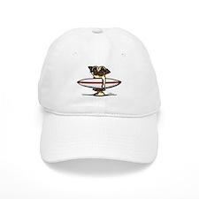 Surfer Pug Baseball Cap