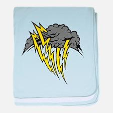 Lightning Storm baby blanket