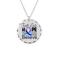 Faith Hope Thyroid Cancer Necklace