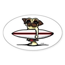 Surfer Pug Decal