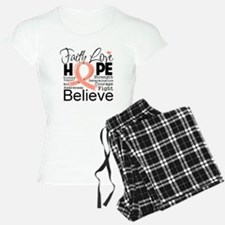 Faith Hope Uterine Cancer Pajamas