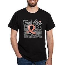 Faith Hope Uterine Cancer T-Shirt