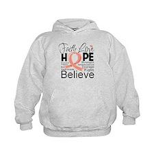 Faith Hope Uterine Cancer Hoodie