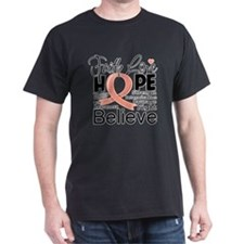Faith Hope Uterine Cancer T-Shirt