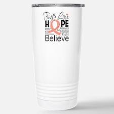 Faith Hope Uterine Cancer Travel Mug