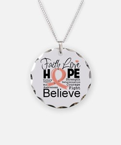 Faith Hope Uterine Cancer Necklace