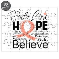 Faith Hope Uterine Cancer Puzzle