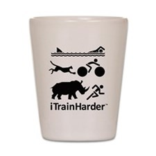 iTrainHarder Shot Glass
