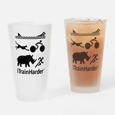iTrainHarder Drinking Glass