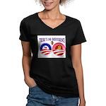 SOCIALIST LEADER Women's V-Neck Dark T-Shirt