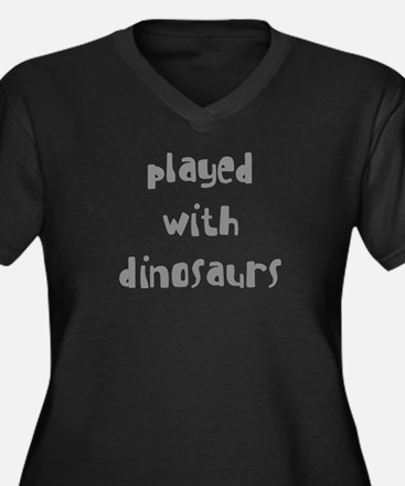 PLAYED WITH DINOSAURS Women's Plus Size V-Neck Dar
