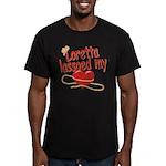 Loretta Lassoed My Heart Men's Fitted T-Shirt (dar