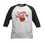Loretta Lassoed My Heart Kids Baseball Jersey