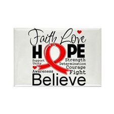 Faith Hope Heart Disease Rectangle Magnet