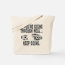 Going Through Hell - Runner Tote Bag