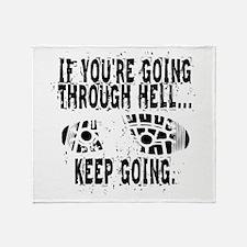 Going Through Hell - Runner Throw Blanket