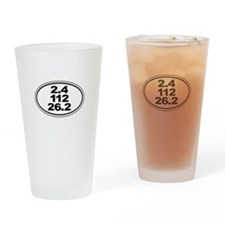 Ironman Triathalon Oval Drinking Glass