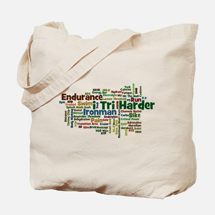 Ironman Triathlon Jargon Tote Bag