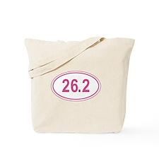 Pink 26.2 Marathon Oval Tote Bag