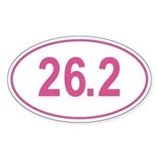 Pink 26.2 Marathon Oval Decal