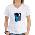 Recycling School Items Women's V-Neck T-Shirt