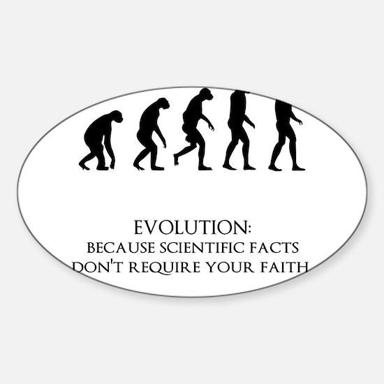 I love evolution Sticker (Oval)