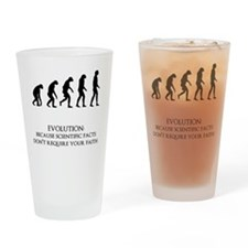 I love evolution Drinking Glass