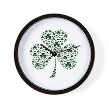 Irish Shamrocks Wall Clock