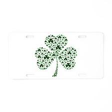 Irish Shamrocks Aluminum License Plate