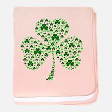 Irish Shamrocks baby blanket