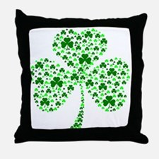 Irish Shamrocks Throw Pillow