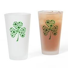 Irish Shamrocks Drinking Glass