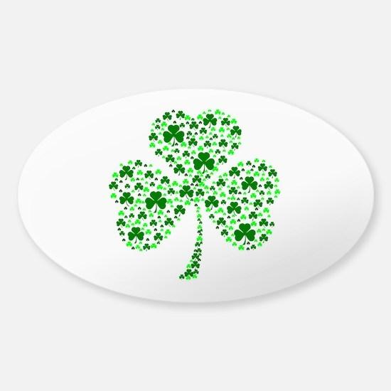 Irish Shamrocks Sticker (Oval)