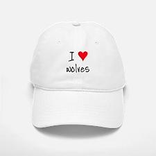 I LOVE Wolves Baseball Baseball Cap