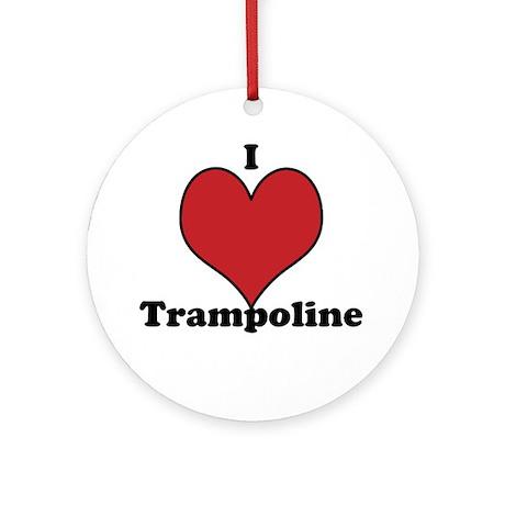 I Love Trampoline Ornament (Round)