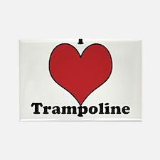 I Love Trampoline Rectangle Magnet