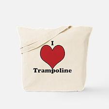 I Love Trampoline Tote Bag