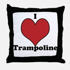 I Love Trampoline Throw Pillow