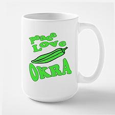 Peace Love Okra Mug
