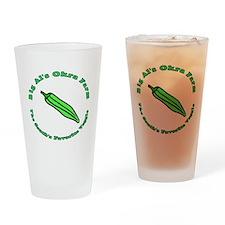 Big Al's Okra Farm Drinking Glass