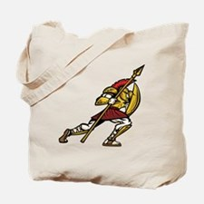 Warrior With Spear Tote Bag