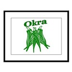 OIKRA Large Framed Print