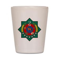 Turkmenistan Shot Glass