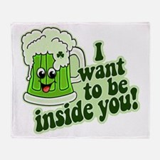 I Want To Be Inside You Throw Blanket