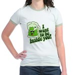 I Want To Be Inside You Jr. Ringer T-Shirt