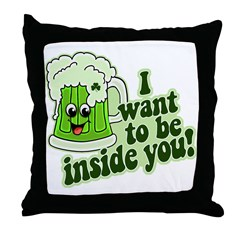 I Want To Be Inside You Throw Pillow