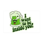 I Want To Be Inside You 35x21 Wall Decal