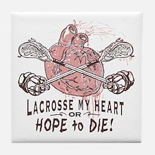 Lacrosse My Heart Lax Tile Coaster