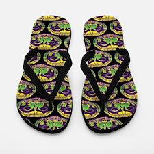 Mardi Gras Mask Flip Flops