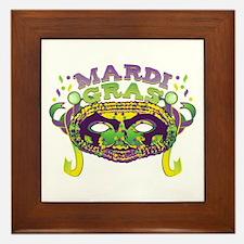 Mardi Gras Mask Framed Tile